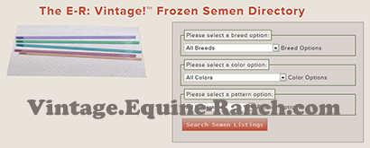 Frozen semen directory search screenshot