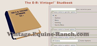 Studbook search screenshot